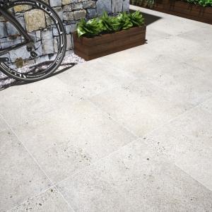 Silver Grey Anti Slip Rectified Matt Outdoor Porcelain